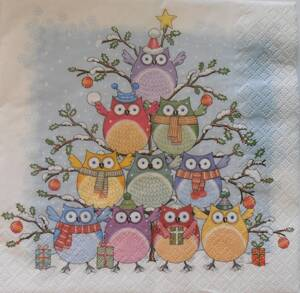 "Servítka ""Tree of Owls"""
