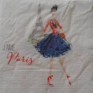 "Servítka "" Paris City Girl"""